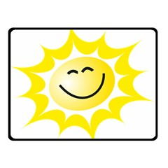 The Sun A Smile The Rays Yellow Double Sided Fleece Blanket (Small)