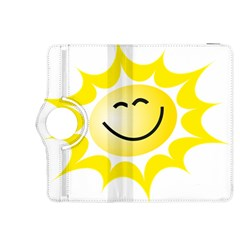 The Sun A Smile The Rays Yellow Kindle Fire HDX 8.9  Flip 360 Case