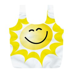 The Sun A Smile The Rays Yellow Full Print Recycle Bags (L)