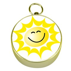 The Sun A Smile The Rays Yellow Gold Compasses