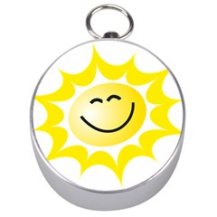The Sun A Smile The Rays Yellow Silver Compasses