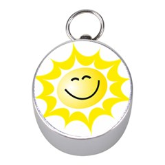 The Sun A Smile The Rays Yellow Mini Silver Compasses