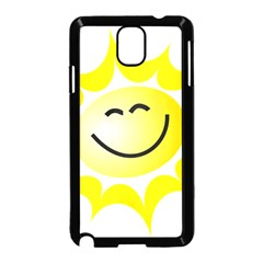 The Sun A Smile The Rays Yellow Samsung Galaxy Note 3 Neo Hardshell Case (Black)