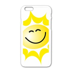 The Sun A Smile The Rays Yellow Apple iPhone 6/6S White Enamel Case