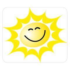 The Sun A Smile The Rays Yellow Double Sided Flano Blanket (small)