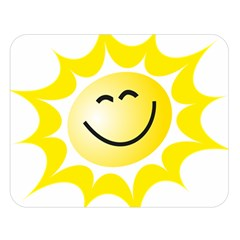The Sun A Smile The Rays Yellow Double Sided Flano Blanket (Large)