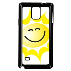 The Sun A Smile The Rays Yellow Samsung Galaxy Note 4 Case (Black)