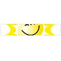The Sun A Smile The Rays Yellow Flano Scarf (Large)