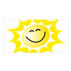 The Sun A Smile The Rays Yellow Satin Shawl