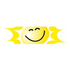 The Sun A Smile The Rays Yellow Satin Scarf (Oblong)