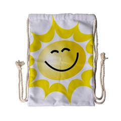 The Sun A Smile The Rays Yellow Drawstring Bag (Small)