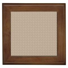 Pattern Ornament Brown Background Framed Tiles