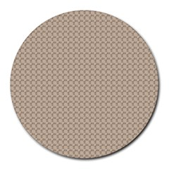 Pattern Ornament Brown Background Round Mousepads