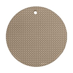 Pattern Ornament Brown Background Ornament (Round)