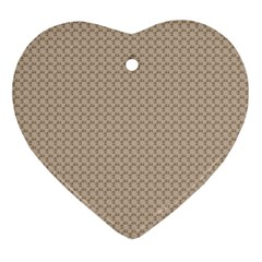 Pattern Ornament Brown Background Ornament (heart)