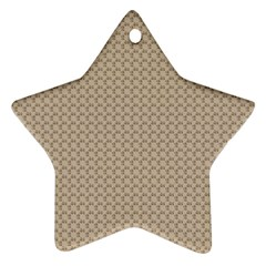 Pattern Ornament Brown Background Ornament (star)
