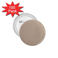 Pattern Ornament Brown Background 1.75  Buttons (100 pack)