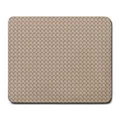 Pattern Ornament Brown Background Large Mousepads