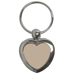 Pattern Ornament Brown Background Key Chains (heart)