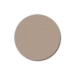 Pattern Ornament Brown Background Rubber Coaster (Round)