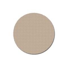 Pattern Ornament Brown Background Magnet 3  (round)