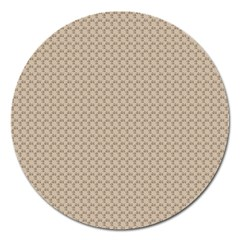 Pattern Ornament Brown Background Magnet 5  (Round)