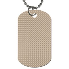 Pattern Ornament Brown Background Dog Tag (one Side)