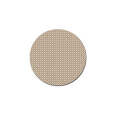 Pattern Ornament Brown Background Golf Ball Marker (10 Pack)