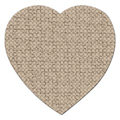 Pattern Ornament Brown Background Jigsaw Puzzle (heart)