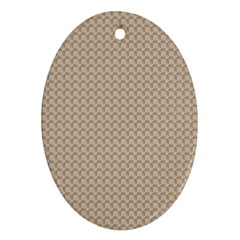Pattern Ornament Brown Background Oval Ornament (Two Sides)