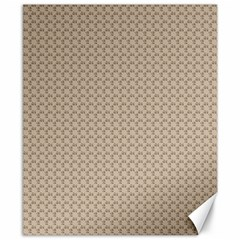Pattern Ornament Brown Background Canvas 8  X 10