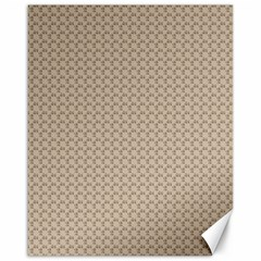 Pattern Ornament Brown Background Canvas 16  X 20