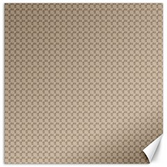 Pattern Ornament Brown Background Canvas 20  x 20