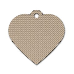 Pattern Ornament Brown Background Dog Tag Heart (One Side)