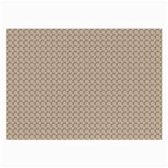 Pattern Ornament Brown Background Large Glasses Cloth