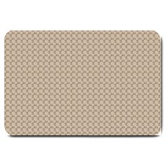 Pattern Ornament Brown Background Large Doormat