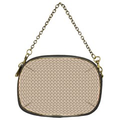Pattern Ornament Brown Background Chain Purses (one Side)