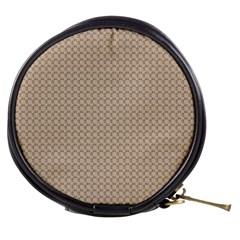 Pattern Ornament Brown Background Mini Makeup Bags