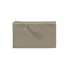 Pattern Ornament Brown Background Cosmetic Bag (Small)