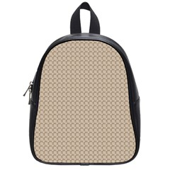 Pattern Ornament Brown Background School Bags (small)