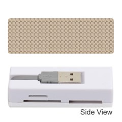 Pattern Ornament Brown Background Memory Card Reader (stick)