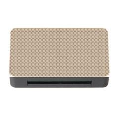 Pattern Ornament Brown Background Memory Card Reader With Cf