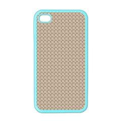 Pattern Ornament Brown Background Apple Iphone 4 Case (color)