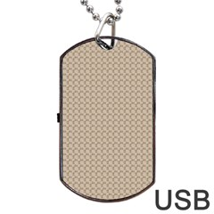 Pattern Ornament Brown Background Dog Tag USB Flash (Two Sides)