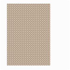 Pattern Ornament Brown Background Large Garden Flag (Two Sides)