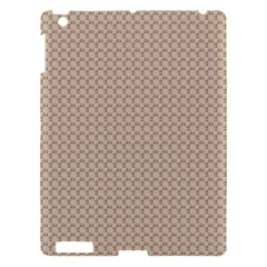 Pattern Ornament Brown Background Apple iPad 3/4 Hardshell Case