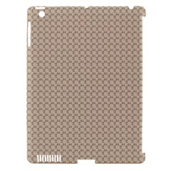 Pattern Ornament Brown Background Apple iPad 3/4 Hardshell Case (Compatible with Smart Cover)
