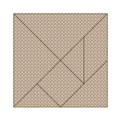 Pattern Ornament Brown Background Acrylic Tangram Puzzle (6  x 6 )