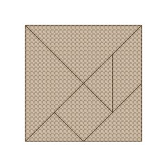 Pattern Ornament Brown Background Acrylic Tangram Puzzle (4  x 4 )