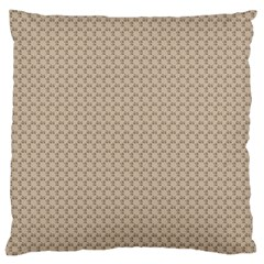 Pattern Ornament Brown Background Large Cushion Case (Two Sides)